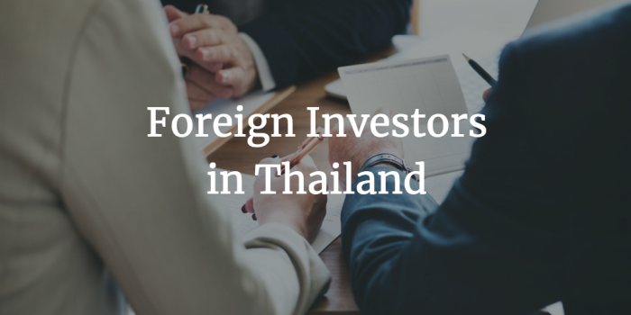 Foreign Investors in Thailand
